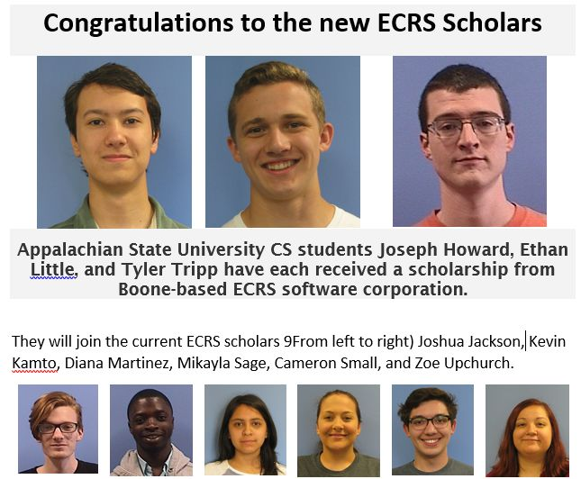 ECRS scholars announcement