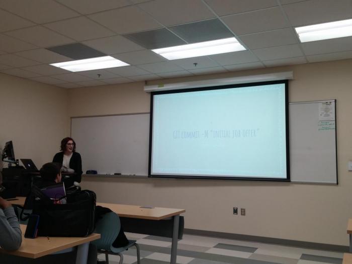 Lindsey Titus giving a presentation