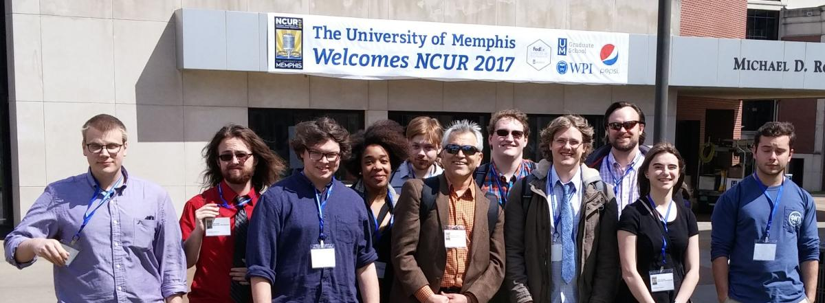group photo of students and faculty attending NCUR 2017