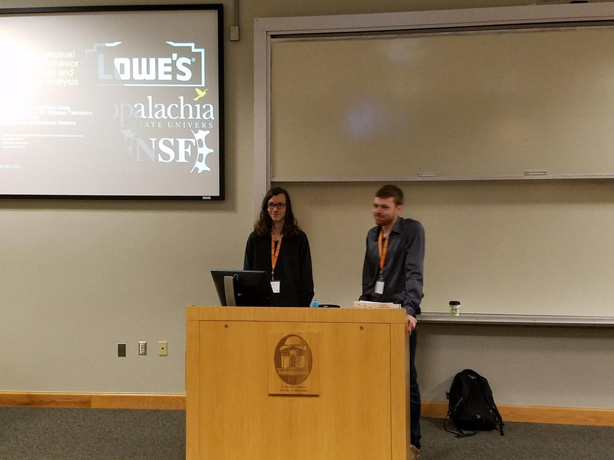 students giving presentation at SNCURCS 2017