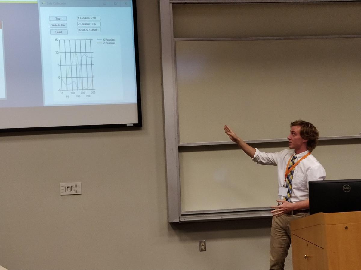 student giving presentation at SNCURCS 2017