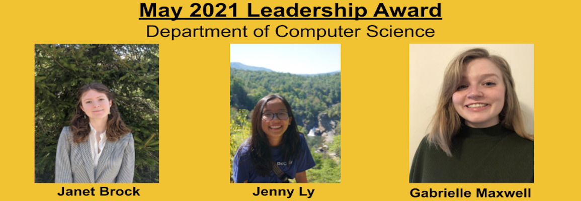spring 2021 Leadership award recipients photos